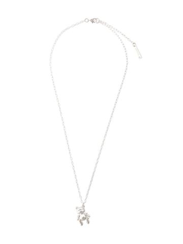Ambush Teddy Bear Pendant Necklace - Silver