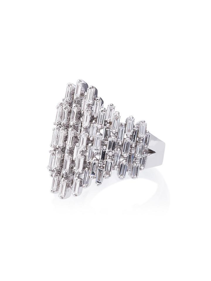 Suzanne Kalan 18k White Gold And Diamond Renaissance Ring
