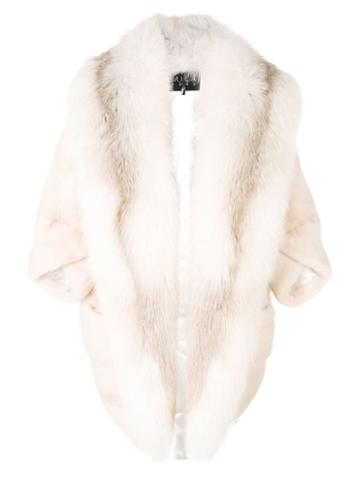 Cara Mila Marilyn Fox & Mink Coat - Neutrals