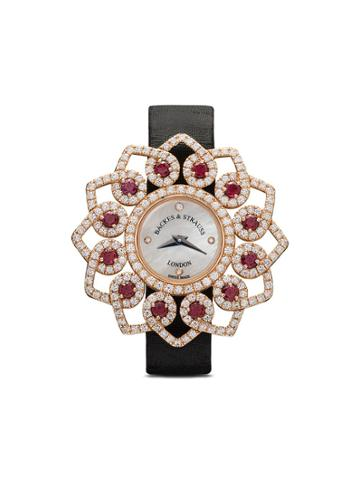 Backes & Strauss Victoria Brilliant Red Rose 36mm - White