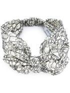 Maison Michel 'valery' Bow Headband - White