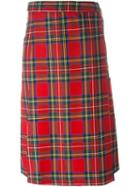 Palm Angels Checked A-line Skirt