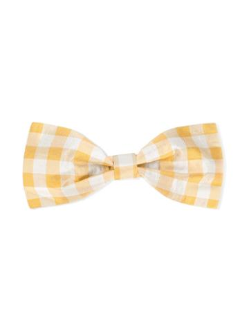 Hucklebones London - Checked Bow Hairclip - Kids - Silk/lurex - One Size, Grey