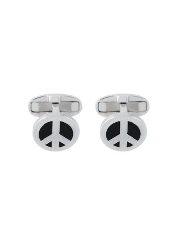 Ps By Paul Smith Peace Sign Cufflinks - Metallic