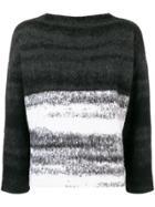 Dusan Oversized Gradient Sweater - Grey