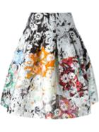 Oscar De La Renta Flower Textured Skirt