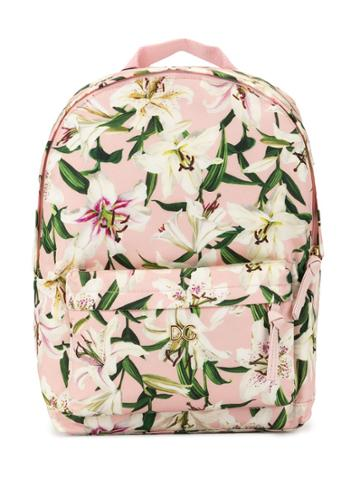 Dolce & Gabbana Kids Teen Floral Print Backpack - Pink