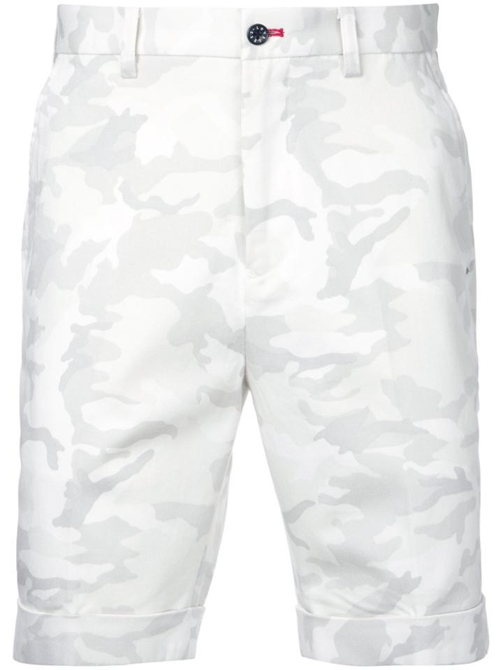 Loveless Camouflage Bermuda Shorts - White