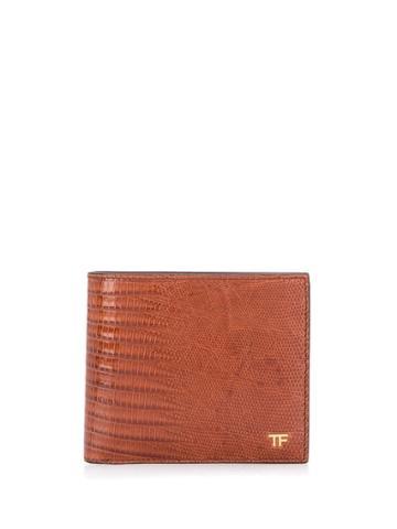 Tom Ford Embossed Wallet - Brown