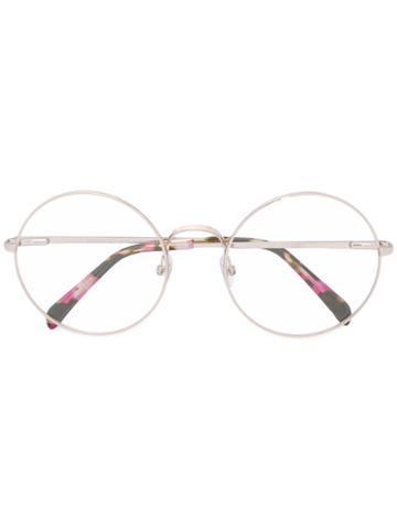 Emilio Pucci Round Frame Glasses, Pink/purple, Acetate/metal