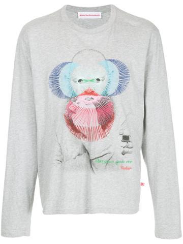 Walter Van Beirendonck Vintage Embroidered Face T-shirt - Grey