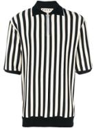 Marni Striped Polo Shirt - Black