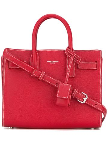 Saint Laurent Nano Sac De Jour Tote, Women's, Red, Leather