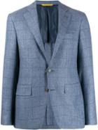 Canali Slim-fit Check Blazer - Blue