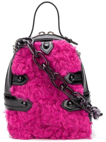 Moschino Mini Wool Backpack - Pink