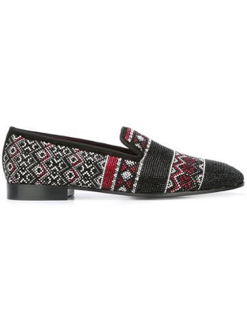 Louis Leeman Swarovski Crystal Embellished Slippers