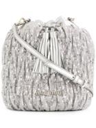 Miu Miu Sequin Bucket Bag - Silver