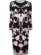 Alexander Mcqueen Floral Knit Midi Dress