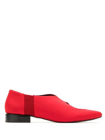 Gloria Coelho Cut Out Brogue Shoes - Red