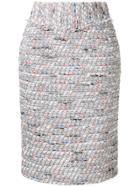 Coohem Blazer Tweed Skirt - Grey