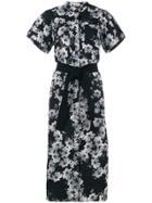 Erdem Floral Print Shirt Dress - Black