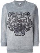 Kenzo 'tiger' Sweatshirt, Women's, Size: Xs, Grey, Acrylic/polyamide