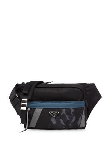 Prada Cross-body Messenger Bag - Blue