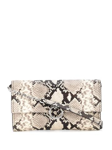 Rebecca Minkoff Snakeskin-effect Clutch Bag - Neutrals