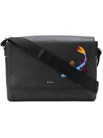 Paul Smith Embroidered Koi Carp Messenger Bag - Black