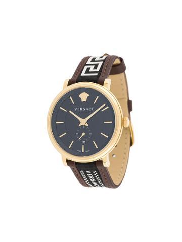 Versace V-circle Greca Watch - Brown