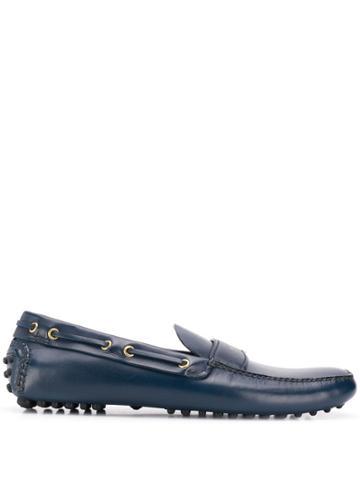 Car Shoe Logo Boat Shoes - Blue