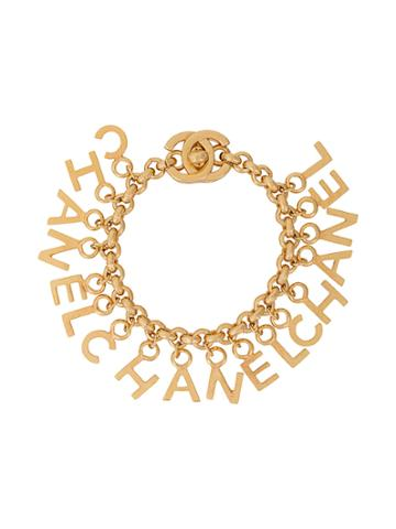 Chanel Vintage Chanel Lettering Bracelet - Metallic