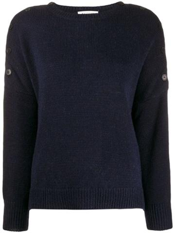 Masscob Buttoned Shoulders Jumper - Blue
