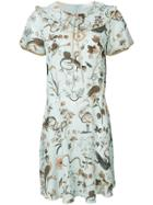 Red Valentino Printed Tea Dress - Blue