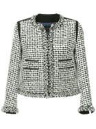 Tomorrowland Cropped Tweed Jacket - White