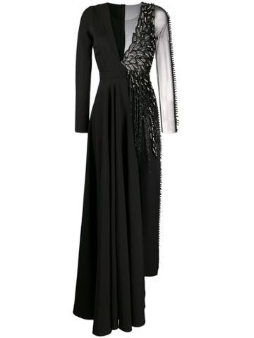 Loulou Contrast Sequinned Jumpsuit - Black
