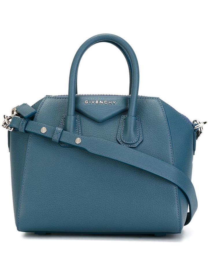 Givenchy Mini 'antigona' Tote, Women's, Blue
