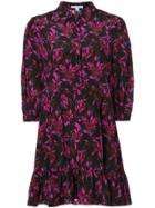 Les Reveries Floral Shirt Dress - Black