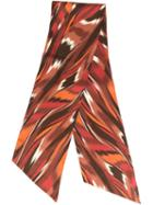 Missoni Printed Scarf, Women's, Red, Silk