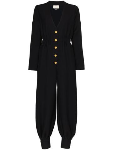 Gucci Alione V-neck Jumpsuit - Black
