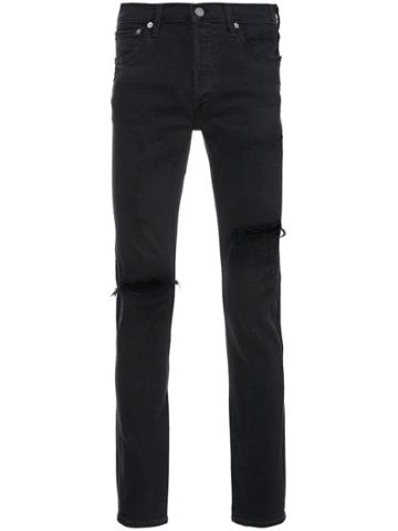 Agolde Distressed Skinny Jeans - Black