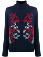 Tory Burch Embroidered Jumper - Blue