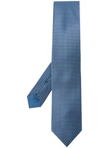 Brioni Micro Square Print Tie - Blue