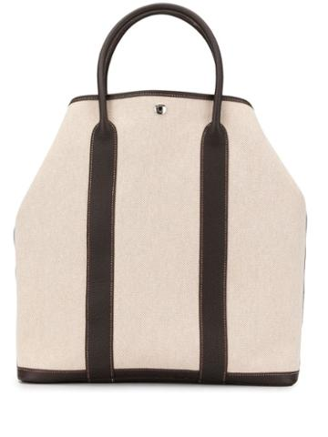 Hermès Pre-owned Garden File Mm Hand Tote Bag - White