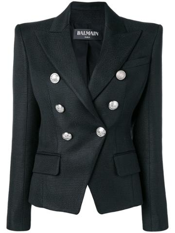 Balmain Pointed Shoulders Blazer - Black