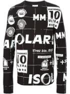 Maison Margiela Motif Print Sweatshirt, Men's, Size: 48, Black, Cotton
