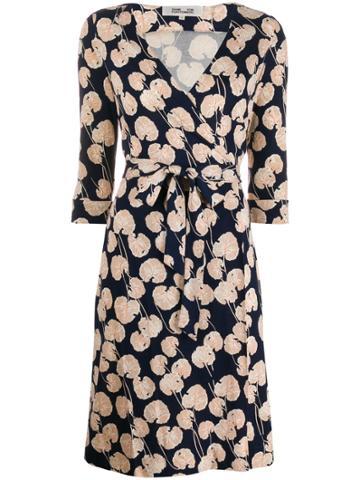 Dvf Diane Von Furstenberg New Julian Wrap Dress - Blue
