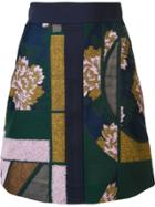 Roksanda Patchwork Skirt - Blue