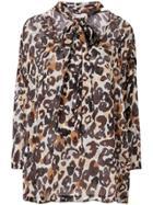 Sonia Rykiel Leopard Print Blouse - White