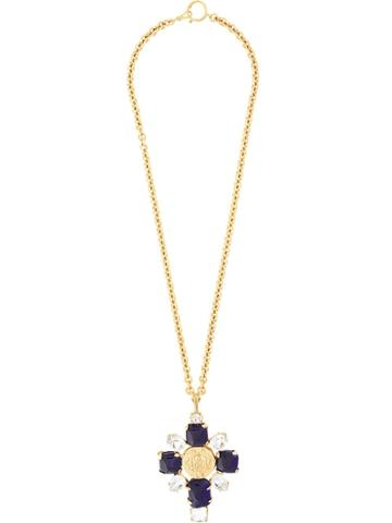 Chanel Pre-owned 1993 Autumn Cc Bijoux Necklace - Gold